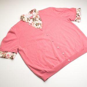 Alfred Dunner Mock 2 Piece Sweater Button Shirt